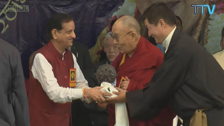 Dalai Lama attends event to mark 60th year of his exile in India
