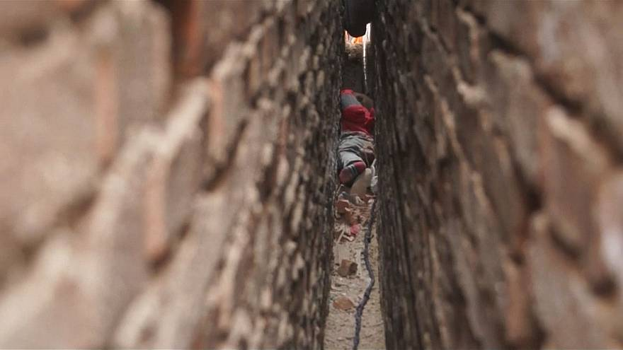 3-year-old boy rescued from narrow wall gap in northwest China