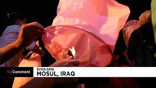 Mil lanternas em Mossul para celebrar Ano Novo assírio