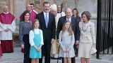 El rey Juan Carlos en la misa de Pascua tras cuatro años de ausencia
