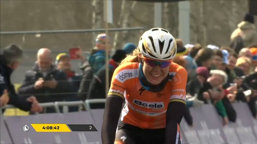 Anna van der Breggen solos to victory at the Tour of Flanders