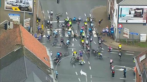 Хаос на велотрассе