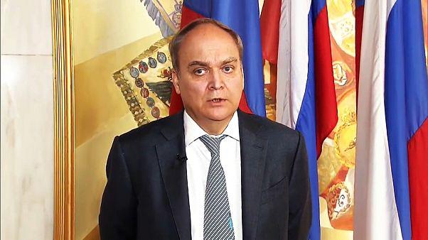 ABD'nin sınır dışı ettiği Rus diplomatlar Moskova'da