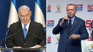 Il premier israeliano Netanyahu e il presidente turco Erdogan
