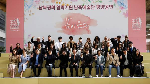 North Korea's Kim Jong Un watches South Korean pop group in Pyongyang