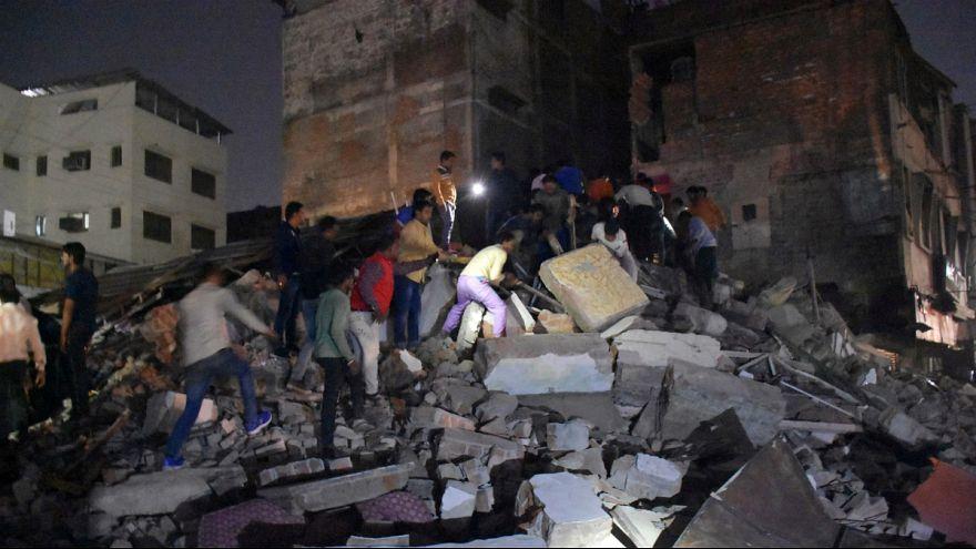 ریزش ساختمان یک هتل در هند جان ۱۰ نفر را گرفت