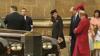 اعضای خاندان سلطنتی بریتانیا در مراسم عید پاک شرکت کردند