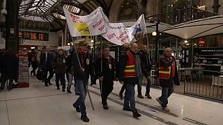 French rail workers have already held a series of stoppages