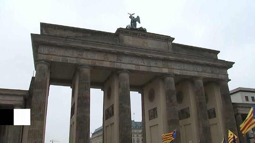 Акция в защиту Пучдемона в Берлине
