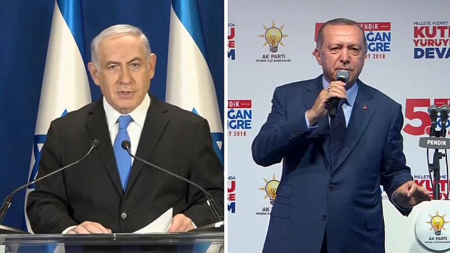 "Erdoğan chama ""Estado terrorista"" a Israel, Netanyahu diz que é ""piada de 1 de abril"""