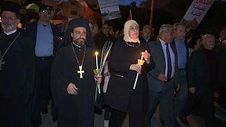 Katolik Kilisesi İsrail'in protesto edildiği eylemlerde ön safta