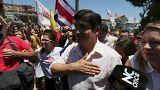 Carlos Alvarado durante la campaña electoral
