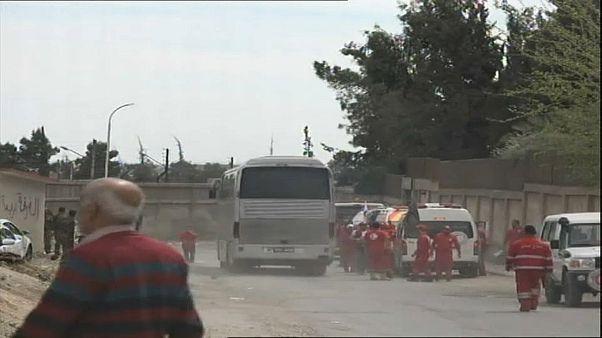 Staats-Agentur in Syrien: Busse mit Rebellen aus Ost-Ghouta abgefahren