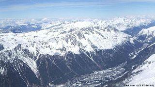 Le massif des Aiguilles Rouges vu depuis l'Aiguille du Midi