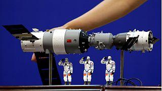 Modelo do laboratório espacial chinês que acaba de se desintegrar