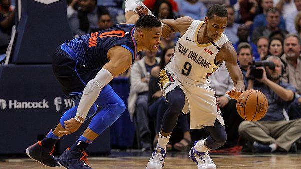 NBA: Westbrook Thunder'da gürledi