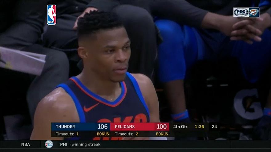 Russell Westbrook shines for Oklahoma City Thunder