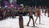 اسکی با مایو و بیکینی در روسیه