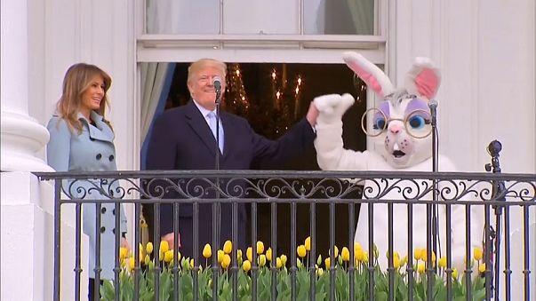 شاهد: بمساعدة الأرنب ترامب يعلن انطلاق سباق بيض عيد الفصح