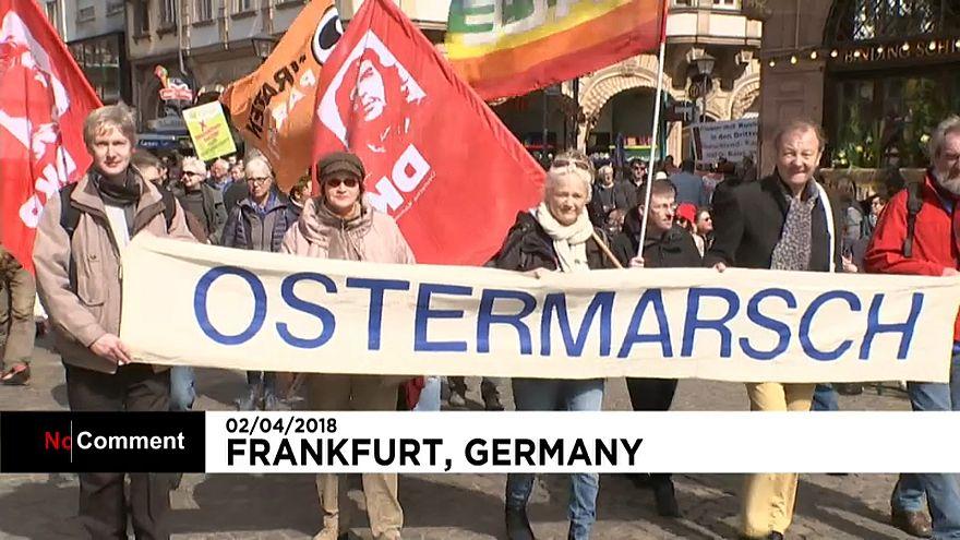 Des marches de Pâques pour la paix dans toute l'Allemagne