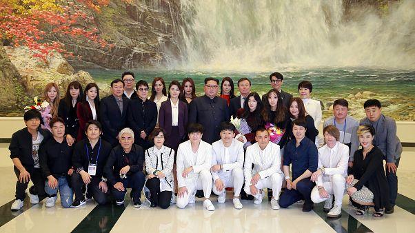 Kim Jong Un em concerto K-pop