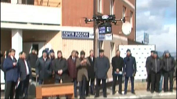 VIDEO: Drohnentest der Post in Russland verläuft nicht wirklich wie geplant