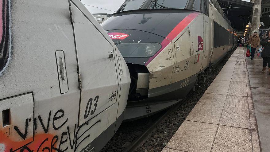 Massiver Streik gegen französische Bahnreform hat begonnen