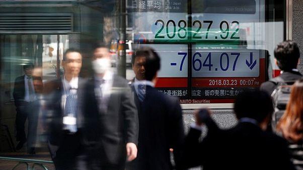 Κλυδωνισμοί στις ασιατικές αγορές μετά τους φόβους για εμπορικό πόλεμο