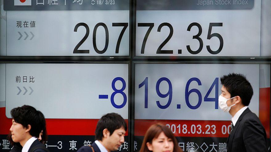 Las bolsas asiáticas caen por miedo a un guerra comercial