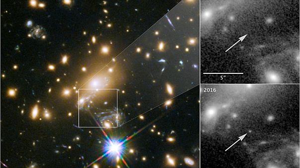 """صورة للنجم """"إيكاروس"""" التقطها التلسكوب هابل التابع لإدارة الطيران والفضاء"""