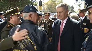 Argentine Defence Minister Oscar Aguad at commemoration ceremony