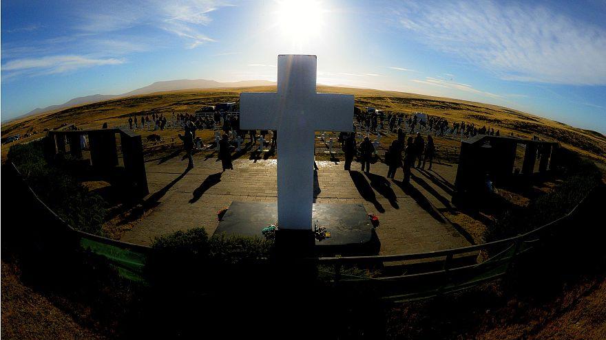 A falklandi háborúra emlékeztek Argentínában