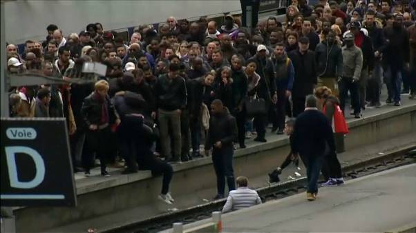 Commuter crush spills onto tracks at Paris's busiest station Gare du Nord