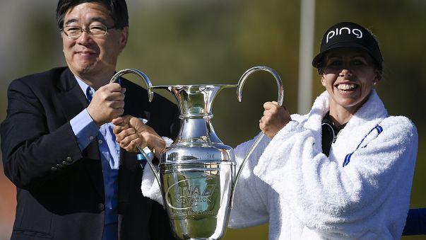 İsveçli golfçü Pernilla Lindberg kariyerindeki ilk şampiyonluğunu elde etti