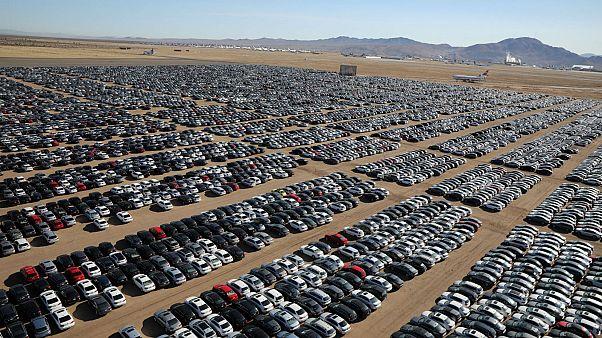 Volkswagen 'graveyard' packs thousands of diesel cars