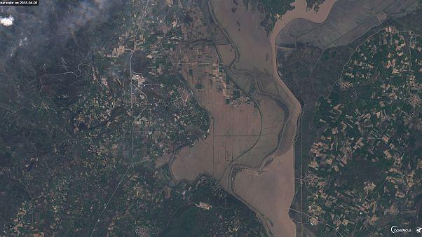 Έβρος: Οι πλημμύρες από τον δορυφόρο