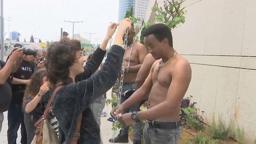 Протест мигрантов из Африки