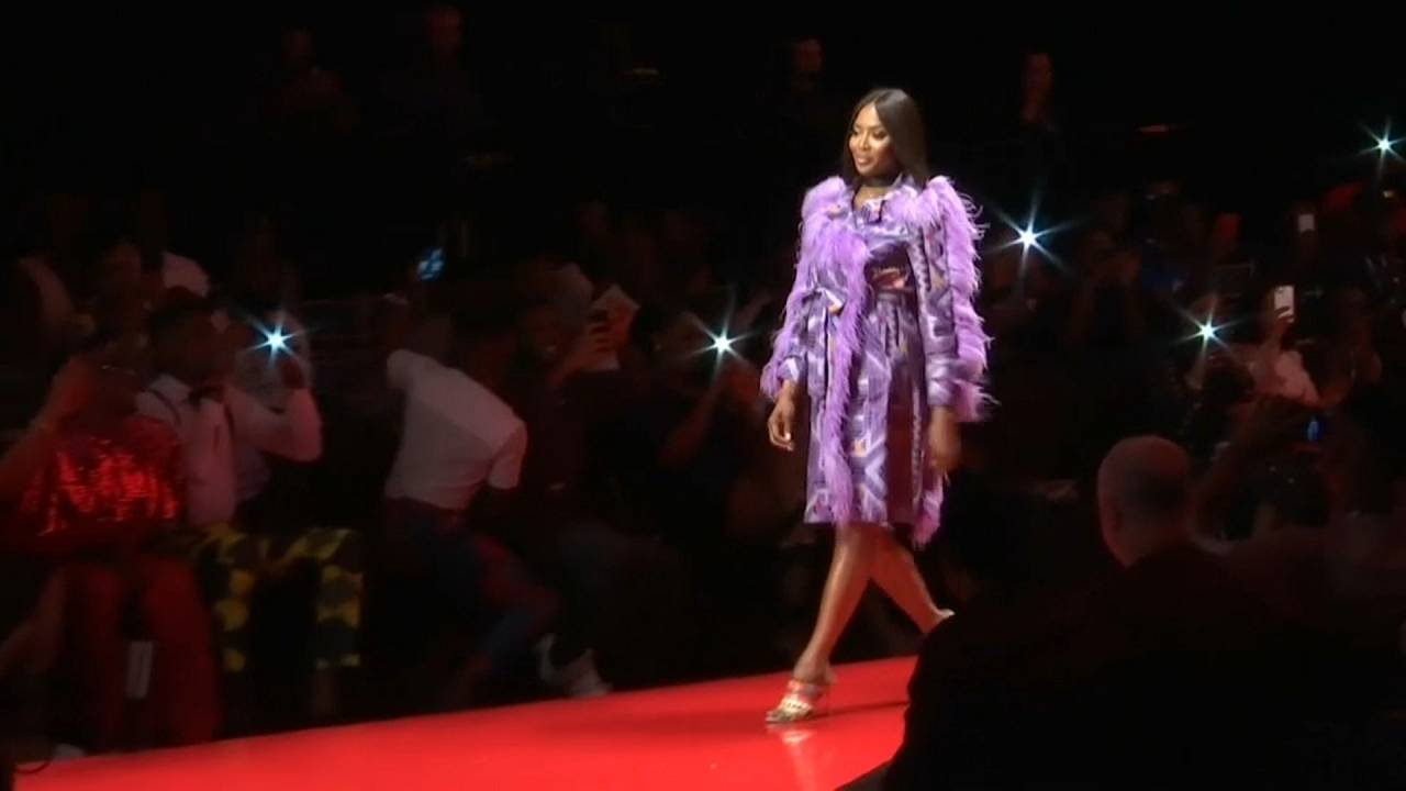 Naomi Campbell auf der ARISE Fashion Week in Lagos