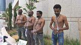 اعتراض مهاجران آفریقایی در اسرائیل به تصمیم نتانیاهو