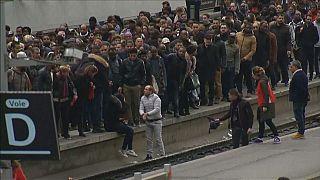 Caos por la huelga de trenes en Francia