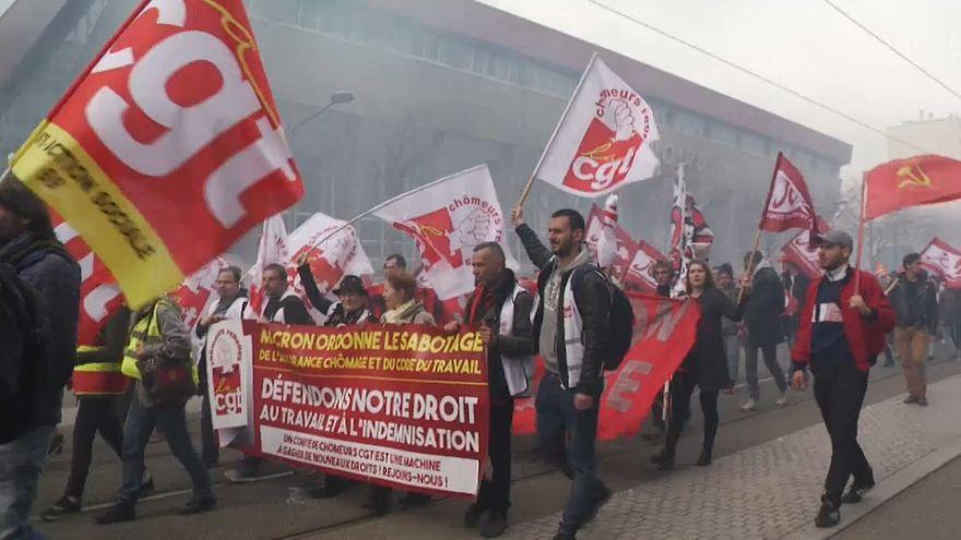 Reacciones de los afectados por la política de reformas de Macron