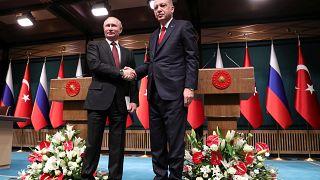 Erdogan e Putin querem mais cooperação no combate ao terrorismo
