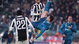 Ronaldo en plena acción contra la Juve