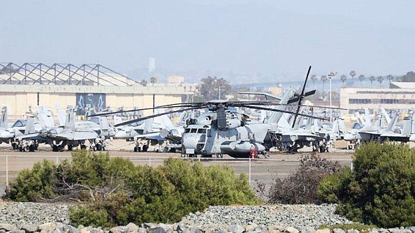صورة من أرشيف رويترز لطائرة هليكوبتر من طراز سيكورسكاي سي إتش-53 إي سوبر