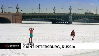 Frühling in St. Petersburg