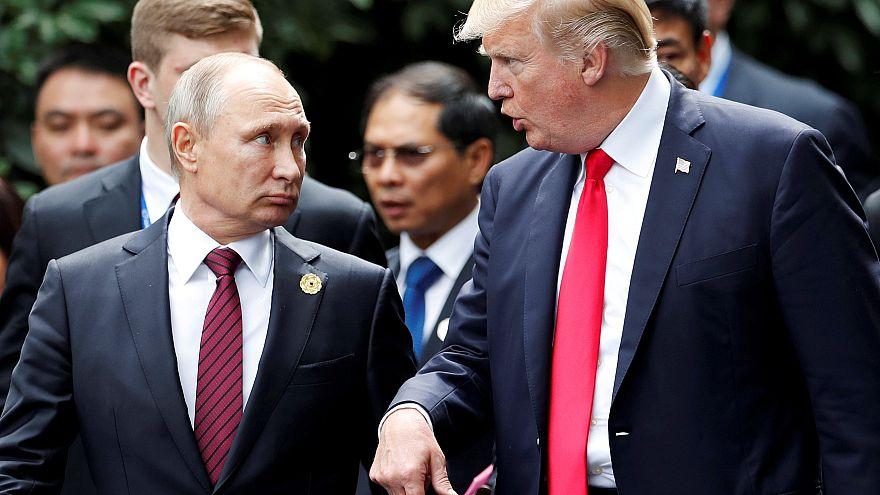 U.S. President Donald Trump and Russian President Vladimir Putin at APEC