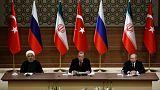 روسای جمهور روسیه، ترکیه و ایران