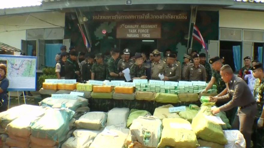 حجز 10 ملايين حبة ميثامفيتامين المخدرة في تايلاند