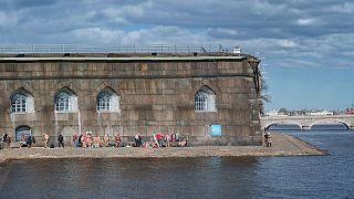 Sunbathing at Saint Petersbourg