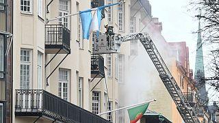 Edifício onde ocorreu o incêndio integra mais três embaixadas
